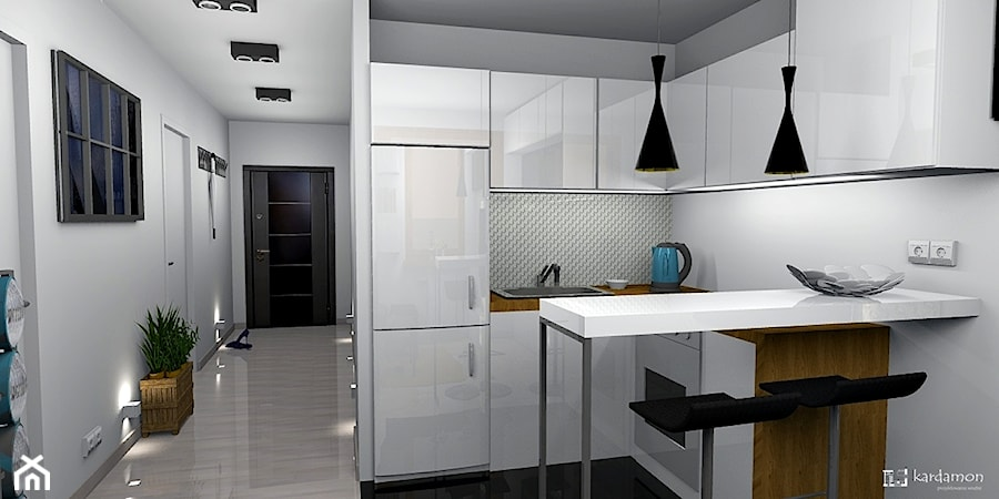 Salon Z Aneksem Kuchennym 14m2 Projekt Wnętrza Mieszkalnego