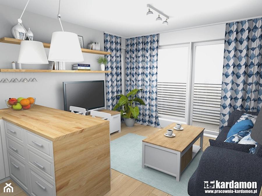 Sielanka Domowa W Mieszkaniu W Bloku Maly Szary Salon Z Kuchnia Z