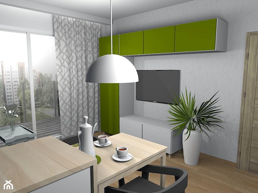 Wiosenne 16m2 (salon + kuchnia) - Salon, styl nowoczesny - zdjęcie od Pracownia Kardamon