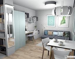 Zgrabne mieszkanie pod wynajem 27m2 - Mały biały salon, styl minimalistyczny - zdjęcie od Pracownia Kardamon