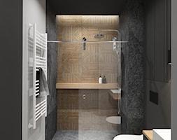 AW/ML/2019 - Średnia czarna szara łazienka bez okna, styl nowoczesny - zdjęcie od Kaza_concept - Homebook