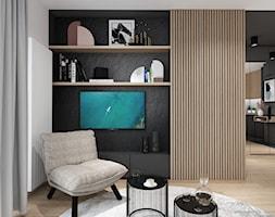 AW/ML/2019 - Średni czarny salon, styl nowoczesny - zdjęcie od Kaza_concept - Homebook