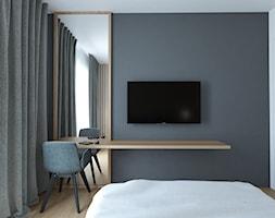 A/AK/8/18 - Średnia szara sypialnia małżeńska z balkonem / tarasem, styl nowoczesny - zdjęcie od Kaza_concept - Homebook