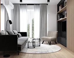 AW/ML/2019 - Mały biały salon, styl nowoczesny - zdjęcie od Kaza_concept - Homebook