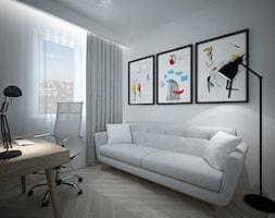 A/SPL/4/18 - Średnie białe biuro domowe w pokoju, styl nowoczesny - zdjęcie od Kaza_concept - Homebook