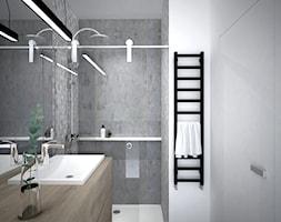 A/SPL/4/18 - Średnia szara łazienka w bloku w domu jednorodzinnym bez okna, styl nowoczesny - zdjęcie od Kaza_concept - Homebook