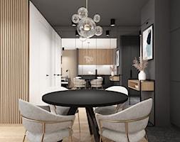 AW/ML/2019 - Średnia otwarta szara czarna kuchnia jednorzędowa, styl nowoczesny - zdjęcie od Kaza_concept - Homebook