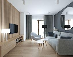 A/AK/8/18 - Średni biały czarny salon z tarasem / balkonem, styl nowoczesny - zdjęcie od Kaza_concept - Homebook