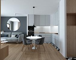 A/AK/8/18 - Średni szary czarny salon z kuchnią z jadalnią, styl nowoczesny - zdjęcie od Kaza_concept - Homebook