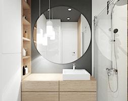 A/AK/8/18 - Średnia biała szara łazienka w bloku w domu jednorodzinnym bez okna, styl nowoczesny - zdjęcie od Kaza_concept - Homebook