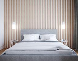 A/AK/8/18 - Mała biała sypialnia małżeńska, styl nowoczesny - zdjęcie od Kaza_concept - Homebook
