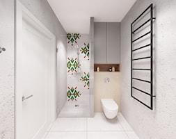 Skandynawska Wola - Średnia szara łazienka w bloku w domu jednorodzinnym bez okna, styl vintage - zdjęcie od Krystyna Regulska Architektura Wnętrz - Homebook