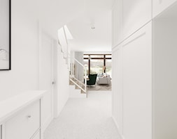Kobiecy dom pod Warszawą - Średni biały hol / przedpokój, styl skandynawski - zdjęcie od Krystyna Regulska Architektura Wnętrz - Homebook