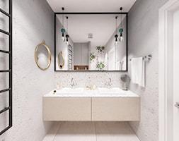 Skandynawska Wola - Mała łazienka w bloku w domu jednorodzinnym bez okna, styl skandynawski - zdjęcie od Krystyna Regulska Architektura Wnętrz - Homebook