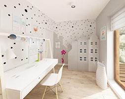 Skandynawska Wola - Średni biały szary pokój dziecka dla chłopca dla dziewczynki dla ucznia dla nast ... - zdjęcie od Krystyna Regulska Architektura Wnętrz - Homebook