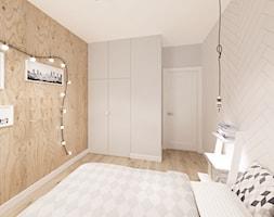Skandynawska Wola - Średnia szara sypialnia małżeńska, styl skandynawski - zdjęcie od Krystyna Regulska Architektura Wnętrz - Homebook