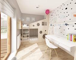 Skandynawska Wola - Średni szary pokój dziecka dla chłopca dla dziewczynki dla rodzeństwa dla ucznia ... - zdjęcie od Krystyna Regulska Architektura Wnętrz - Homebook