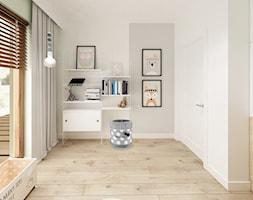 Skandynawska Wola - Mały biały szary pokój dziecka dla chłopca dla dziewczynki dla malucha dla nastolatka, styl skandynawski - zdjęcie od Krystyna Regulska Architektura Wnętrz