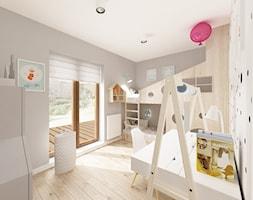 Skandynawska Wola - Średni biały szary pokój dziecka dla chłopca dla dziewczynki dla rodzeństwa dla ... - zdjęcie od Krystyna Regulska Architektura Wnętrz - Homebook