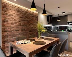 Dom w Rudzie Śląskiej - Realizacja - Średnia otwarta biała jadalnia w kuchni, styl nowoczesny - zdjęcie od Conceptgroup