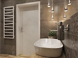 Mieszkanie Dla Młodych :) - Średnia biała szara łazienka bez okna, styl rustykalny - zdjęcie od Inside Outside Design