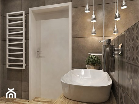 Aranżacje wnętrz - Łazienka: Mieszkanie Dla Młodych :) - Średnia biała szara łazienka bez okna, styl rustykalny - Inside Outside Design. Przeglądaj, dodawaj i zapisuj najlepsze zdjęcia, pomysły i inspiracje designerskie. W bazie mamy już prawie milion fotografii!