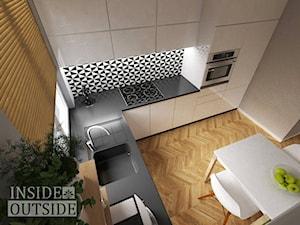 Metamorfoza małej kuchni - Średnia zamknięta szara kuchnia w kształcie litery l, styl nowoczesny - zdjęcie od Inside Outside Design