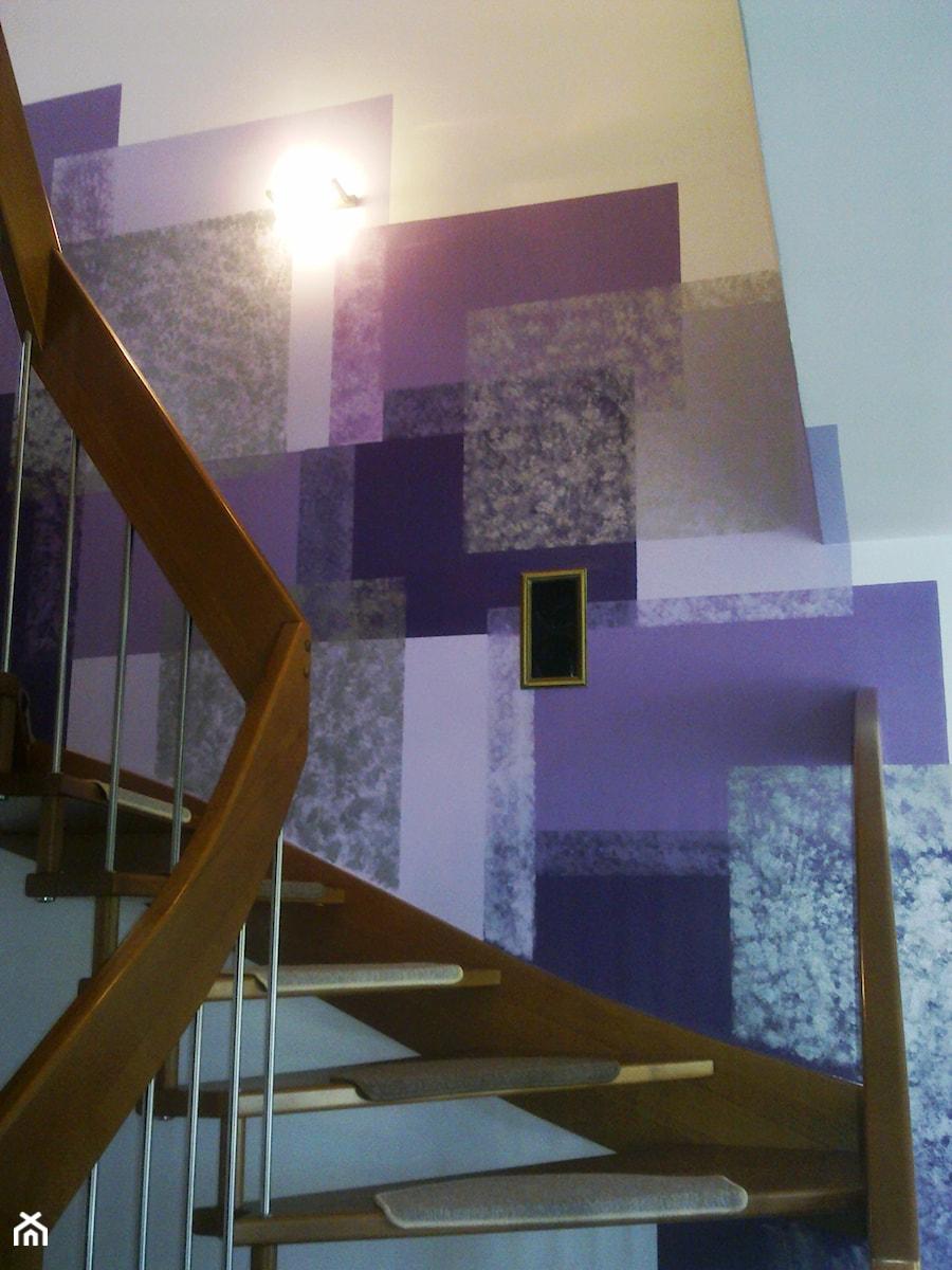 Klatka schodowa w domu jednorodzinnym w Studzienicach k. Pszczyny - zdjęcie od Inside Outside Design