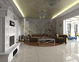 Warszawski sen.. - Duży biały salon, styl nowoczesny - zdjęcie od Inside Outside Design