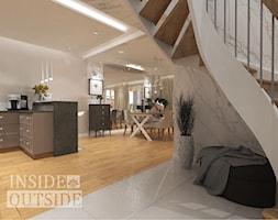 Nowoczesne, jasne, gustowne wnętrze.. - Schody, styl klasyczny - zdjęcie od Inside Outside Design