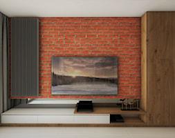 Mieszkanie Dla Młodych :) - Mały brązowy salon, styl nowoczesny - zdjęcie od Inside Outside Design
