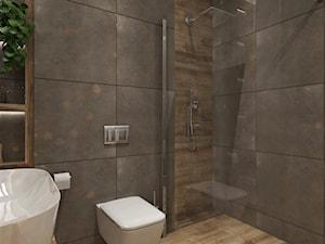 Mieszkanie Dla Młodych :) - Mała szara łazienka na poddaszu w bloku w domu jednorodzinnym bez okna, styl eklektyczny - zdjęcie od Inside Outside Design