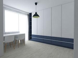 Mieszkanie w stylu skandynawskim - Duży biały szary pokój dziecka dla rodzeństwa dla nastolatka, styl skandynawski - zdjęcie od IM WNĘTRZA | Projektowanie wnętrz