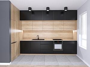 Mieszkanie z czarną kuchnią