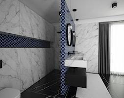Projekt pokoju kąpielowego - Średnia szara łazienka w bloku w domu jednorodzinnym bez okna, styl nowoczesny - zdjęcie od IM WNĘTRZA | Projektowanie wnętrz