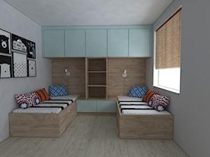 Mieszkanie w stylu skandynawskim - Średni szary pokój dziecka dla rodzeństwa dla nastolatka, styl skandynawski - zdjęcie od IM WNĘTRZA   Projektowanie wnętrz