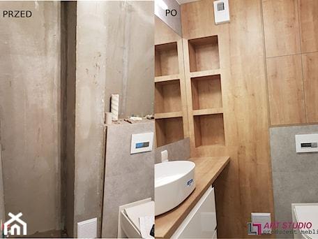Aranżacje wnętrz - Łazienka: Zabudowa łazienki - Łazienka, styl nowoczesny - Art.studio. Przeglądaj, dodawaj i zapisuj najlepsze zdjęcia, pomysły i inspiracje designerskie. W bazie mamy już prawie milion fotografii!