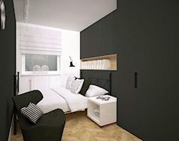czarno-biała łazienka i sypialnia - zdjęcie od Archomega Biuro Architektoniczne