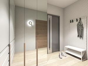 Kawalerka z garderobą - zdjęcie od Archomega Biuro Architektoniczne