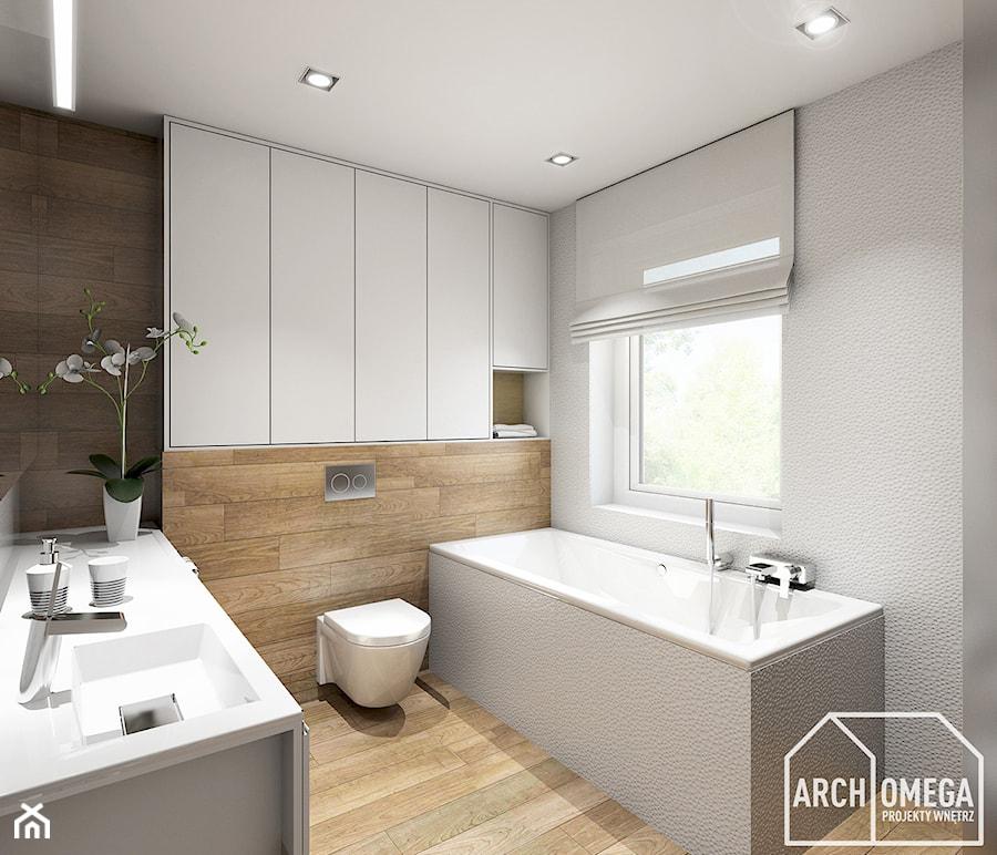 łazienka Biel I Drewno Zdjęcie Od Archomega Biuro