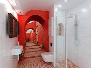łazienka z fototapetą - zdjęcie od Archomega Biuro Architektoniczne