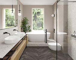 Dwie+%C5%82azienki+w+stylu+japandi.+-+zdj%C4%99cie+od+Archomega+Biuro+Architektoniczne
