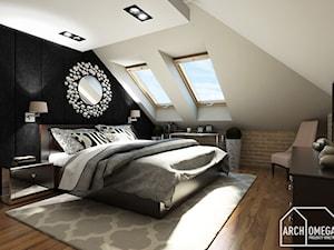 sypialnia na poddaszu - zdjęcie od Archomega Biuro Architektoniczne