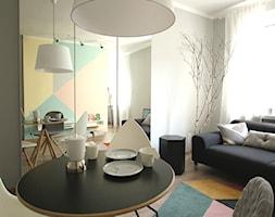 metamorfoza - kawalerka 29m2 skandynawskie pastele - zdjęcie od Archomega Biuro Architektoniczne