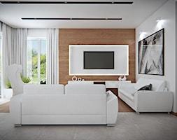 Średni biały salon, styl skandynawski - zdjęcie od iProjektowanieWnętrz - Homebook