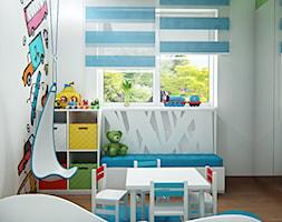 Średni biały pokój dziecka dla chłopca dla ucznia dla malucha - zdjęcie od iProjektowanieWnętrz - Homebook