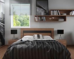 Średnia szara sypialnia małżeńska - zdjęcie od iProjektowanieWnętrz - Homebook