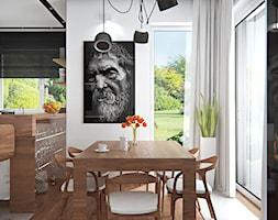 Mała otwarta biała kuchnia jednorzędowa z oknem, styl skandynawski - zdjęcie od iProjektowanieWnętrz - Homebook