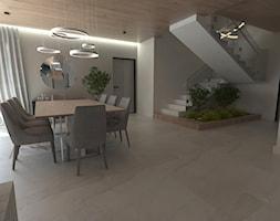 2 - Duża otwarta biała jadalnia w salonie, styl nowoczesny - zdjęcie od Karolina Czapla