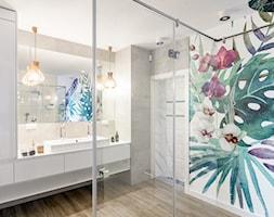 warszawa realizacja - Duża łazienka bez okna, styl nowoczesny - zdjęcie od Karolina Czapla